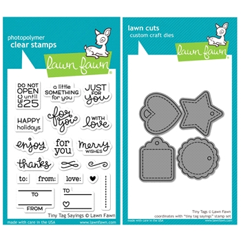 Lawn Fawn SET SULF16SETTTS TINY TAG SAYINGS Clear Stamps and Dies*