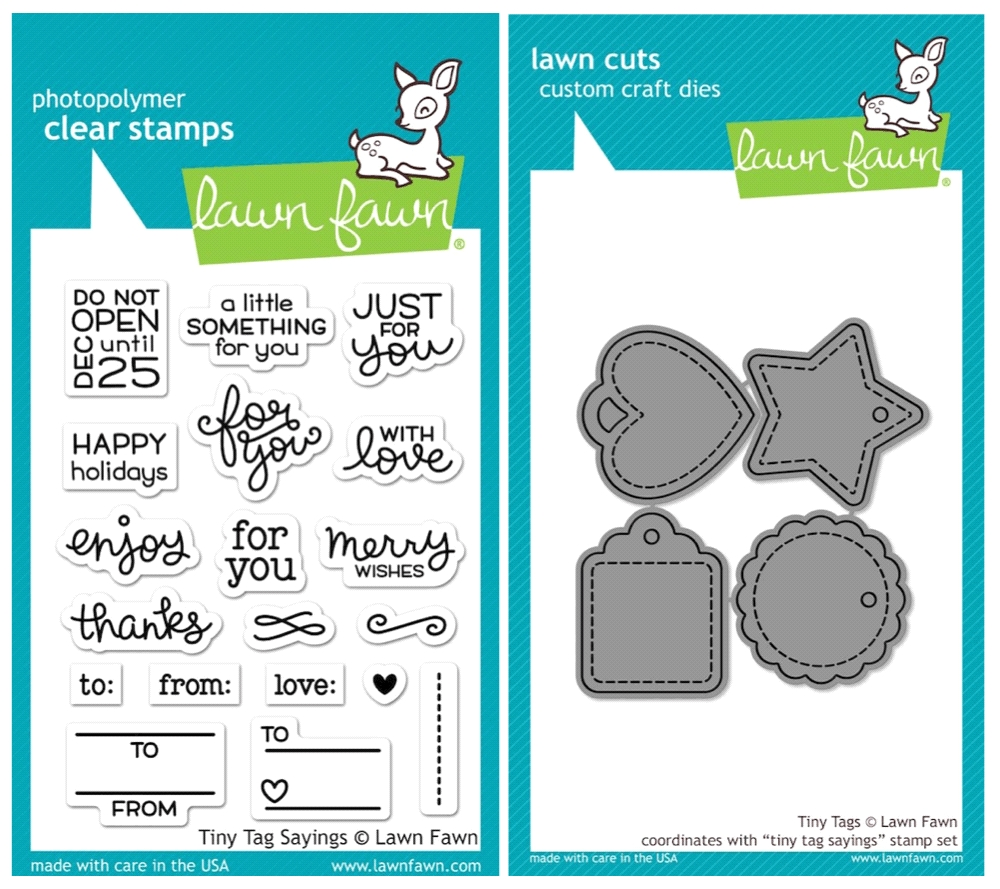 Lawn Fawn SET SULF16SETTTS TINY TAG SAYINGS Clear Stamps and Dies* zoom image