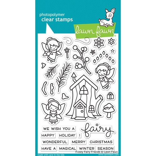 Lawn Fawn FROSTY FAIRY FRIENDS Clear Stamps LF1224 Preview Image