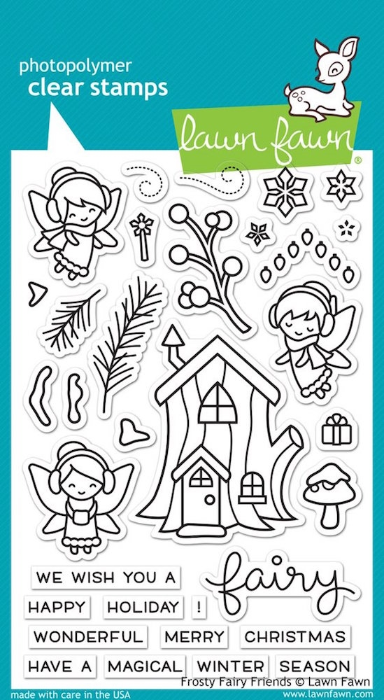Lawn Fawn FROSTY FAIRY FRIENDS Clear Stamps LF1224 zoom image