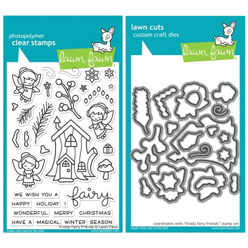 Lawn Fawn SET SULF16SETFFF FROSTY FAIRY FRIENDS Clear Stamps and Dies Preview Image
