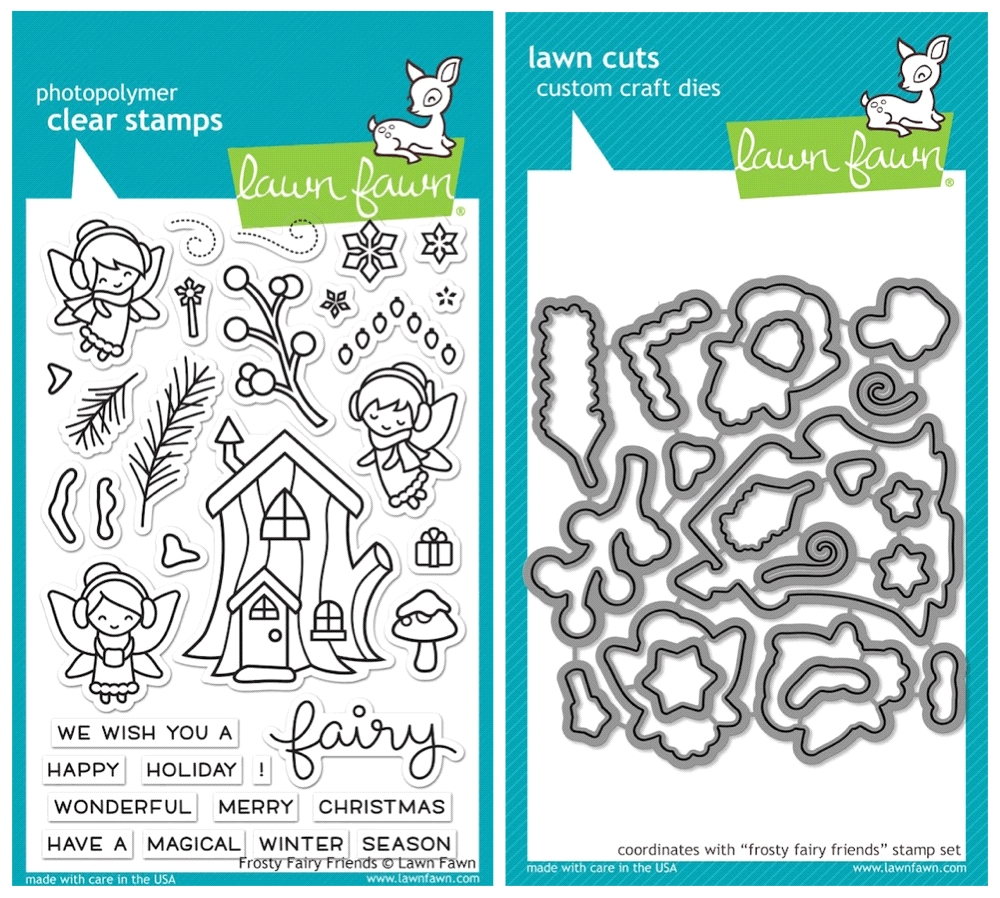 Lawn Fawn SET SULF16SETFFF FROSTY FAIRY FRIENDS Clear Stamps and Dies zoom image