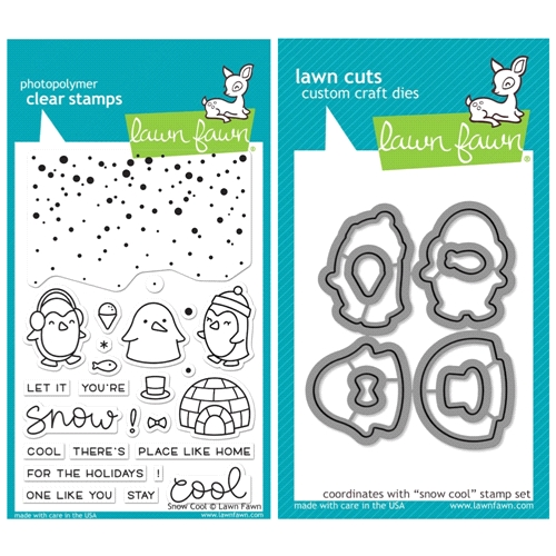 Lawn Fawn SET SULF16SETSC SNOW COOL Clear Stamps and Dies Preview Image