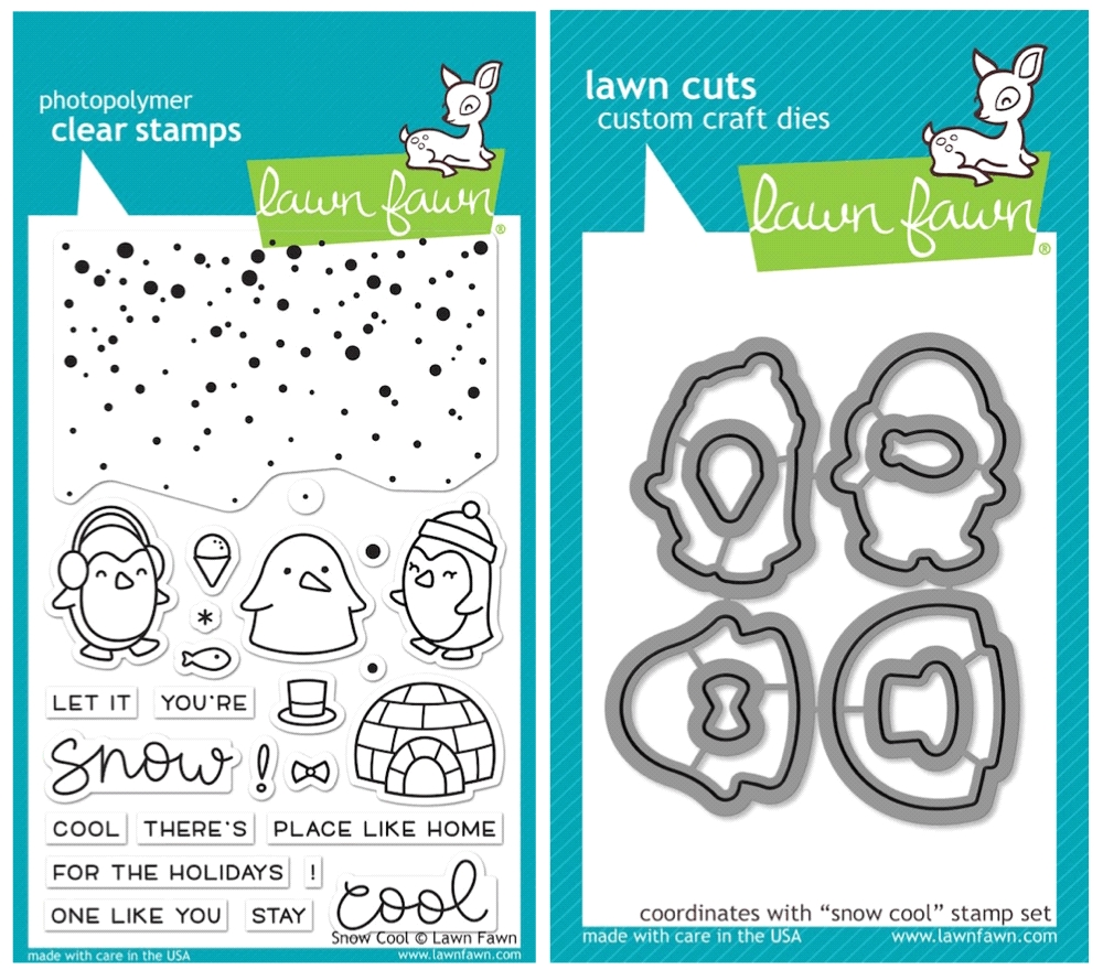 Lawn Fawn SET SULF16SETSC SNOW COOL Clear Stamps and Dies zoom image