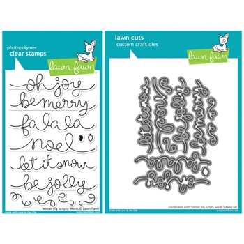 Lawn Fawn SET SULF16SETWBSW WINTER BIG SCRIPTY WORDS Clear Stamps and Dies