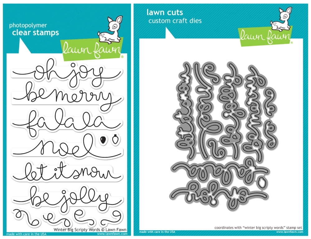 Lawn Fawn SET SULF16SETWBSW WINTER BIG SCRIPTY WORDS Clear Stamps and Dies zoom image