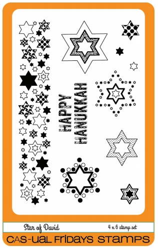 CAS-ual Fridays STAR OF DAVID Clear Stamps CFS1611 Preview Image