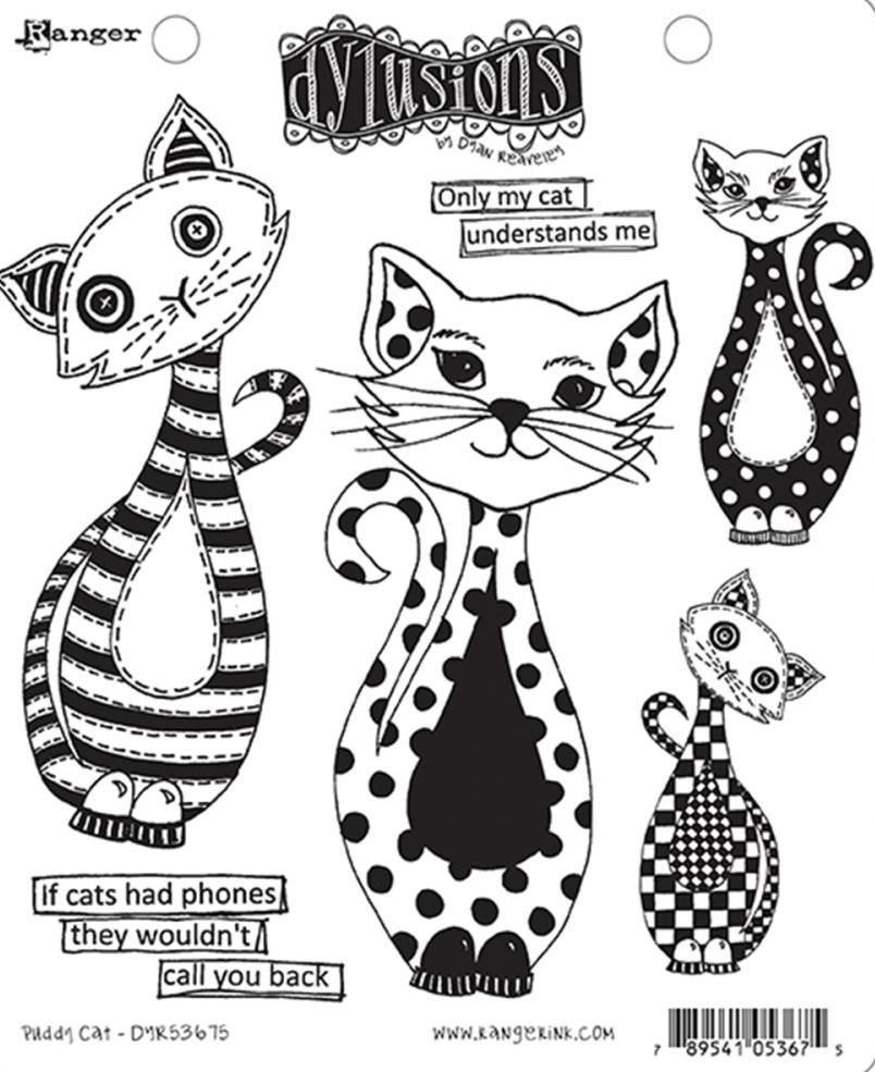 Dyan Reaveley PUDDY CAT Dylusions Cling Stamp Set DYR53675 zoom image