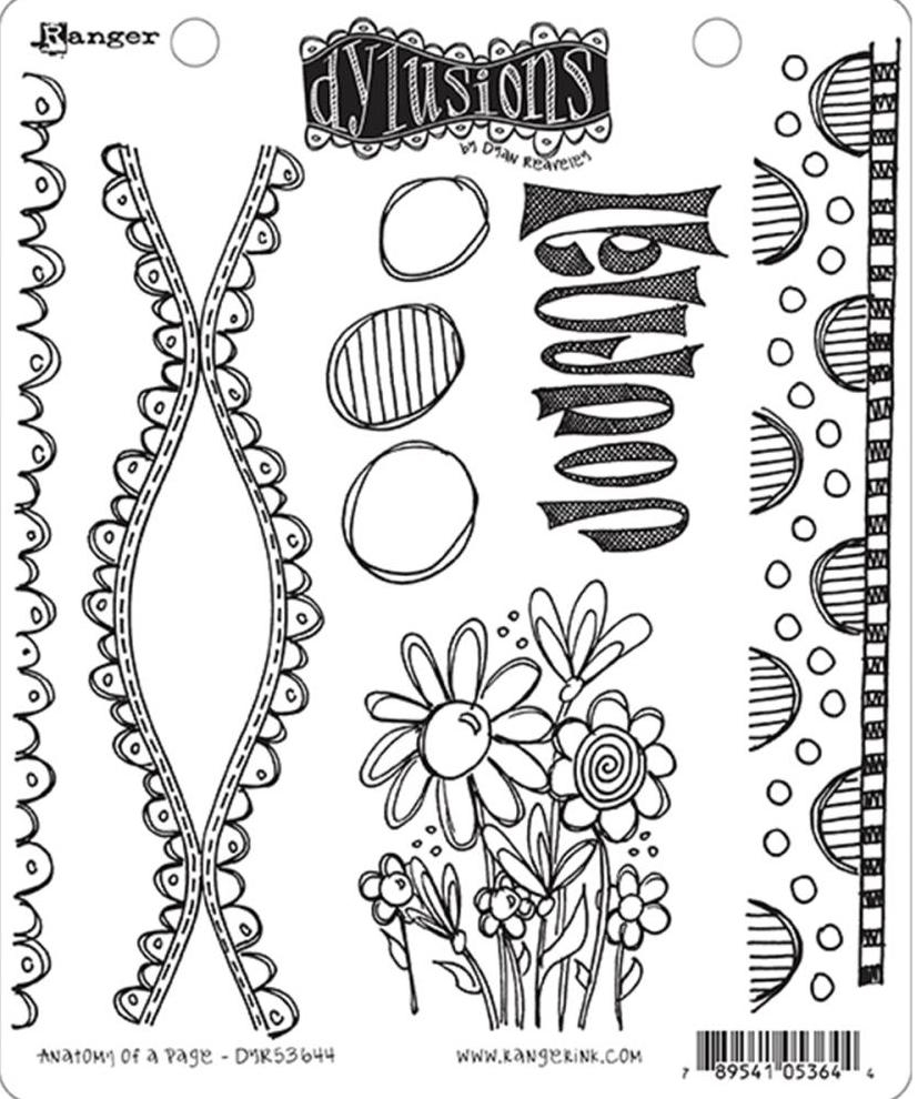 Dyan Reaveley ANATOMY OF A PAGE Dylusions Cling Stamp Set DYR53644 zoom image