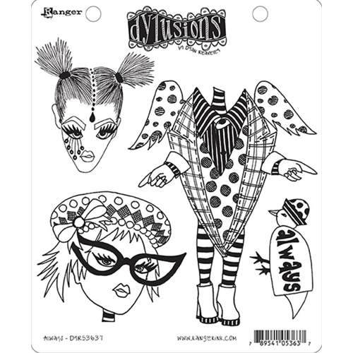 Dyan Reaveley ALWAYS Dylusions Cling Stamp Set DYR53637 Preview Image