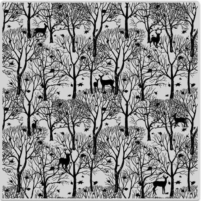 Hero Arts Cling Stamp FOREST AND DEER BOLD PRINTS CG700 zoom image