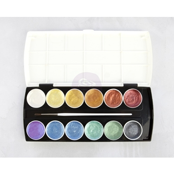 Prima Marketing METALLIC ACCENTS Semi Watercolor Cake 589974