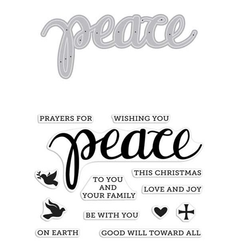 Hero Arts Stamp And Cuts PEACE Coordinating Set DC187 Preview Image