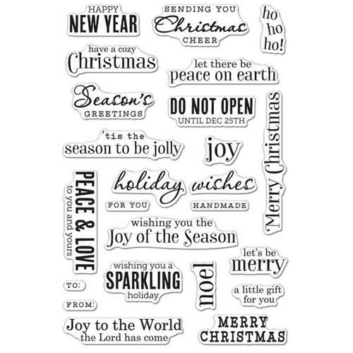 Hero Arts Clear Stamps CHRISTMAS MESSAGES CM100 Preview Image