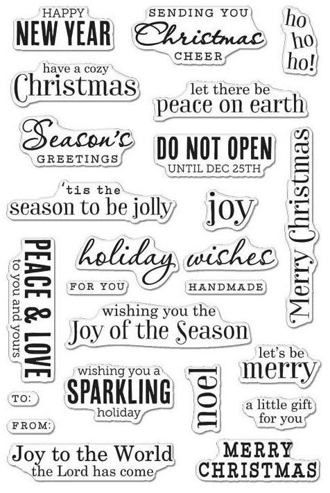 Hero Arts Clear Stamps CHRISTMAS MESSAGES CM100 zoom image