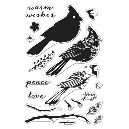 Hero Arts Clear Stamps COLOR LAYERING CARDINAL CL984 Preview Image