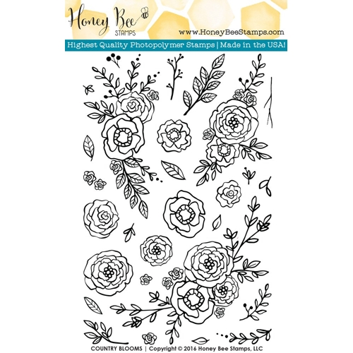 Honey Bee COUNTRY BLOOMS Clear Stamp Set HBST-026 Preview Image