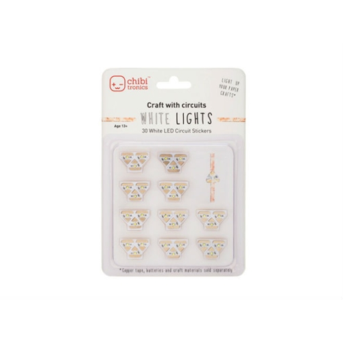 Chibitronics WHITE LED CIRCUIT LIGHTS Stickers 675346 Preview Image