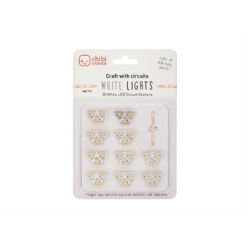 Chibitronics WHITE LED CIRCUIT LIGHTS Stickers 675346