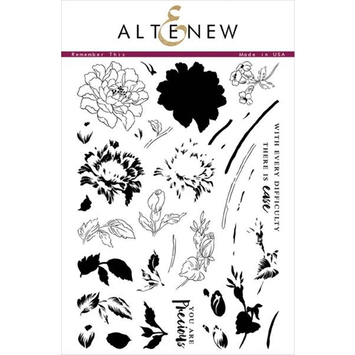 Altenew REMEMBER THIS Clear Stamp Set ALT1106* Preview Image