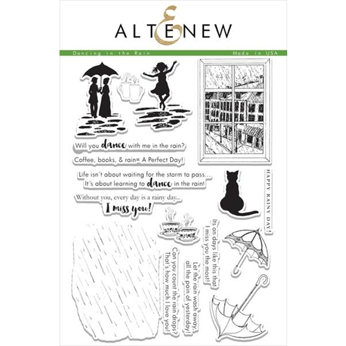 Altenew DANCING IN THE RAIN Clear Stamp Set ALT1079 Preview Image