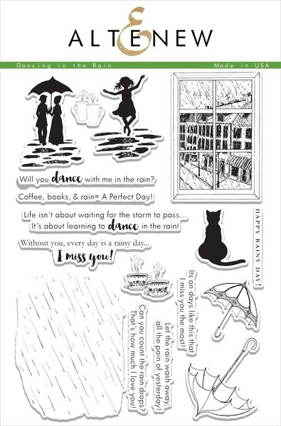 Altenew DANCING IN THE RAIN Clear Stamp Set ALT1079 zoom image
