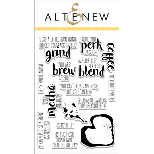 Altenew COFFEE TALK Clear Stamp Set ALT1113 Preview Image