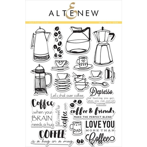 Altenew COFFEE LOVE Clear Stamp Set ALT1112* Preview Image
