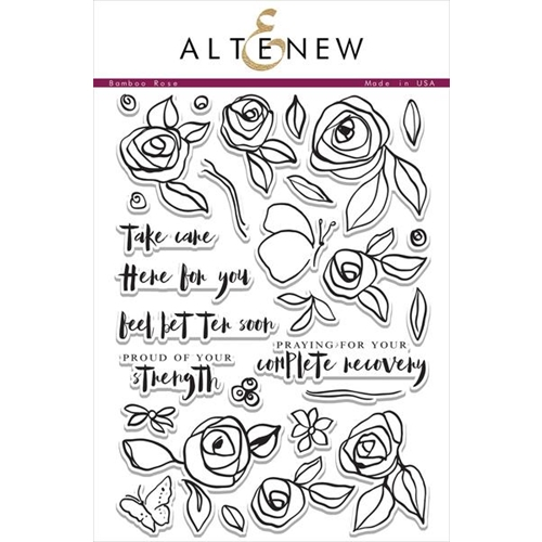 Altenew BAMBOO ROSE Clear Stamp Set ALT1038 Preview Image