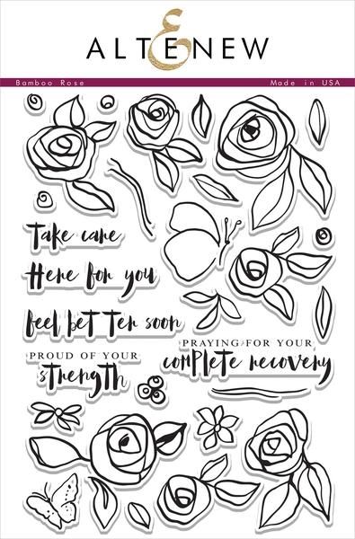 Altenew BAMBOO ROSE Clear Stamp Set ALT1038 zoom image