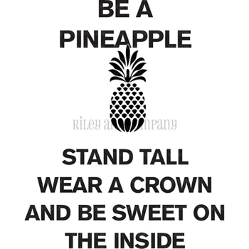 Riley and Company Funny Bones BE A PINEAPPLE Cling Rubber Stamp RWD 528