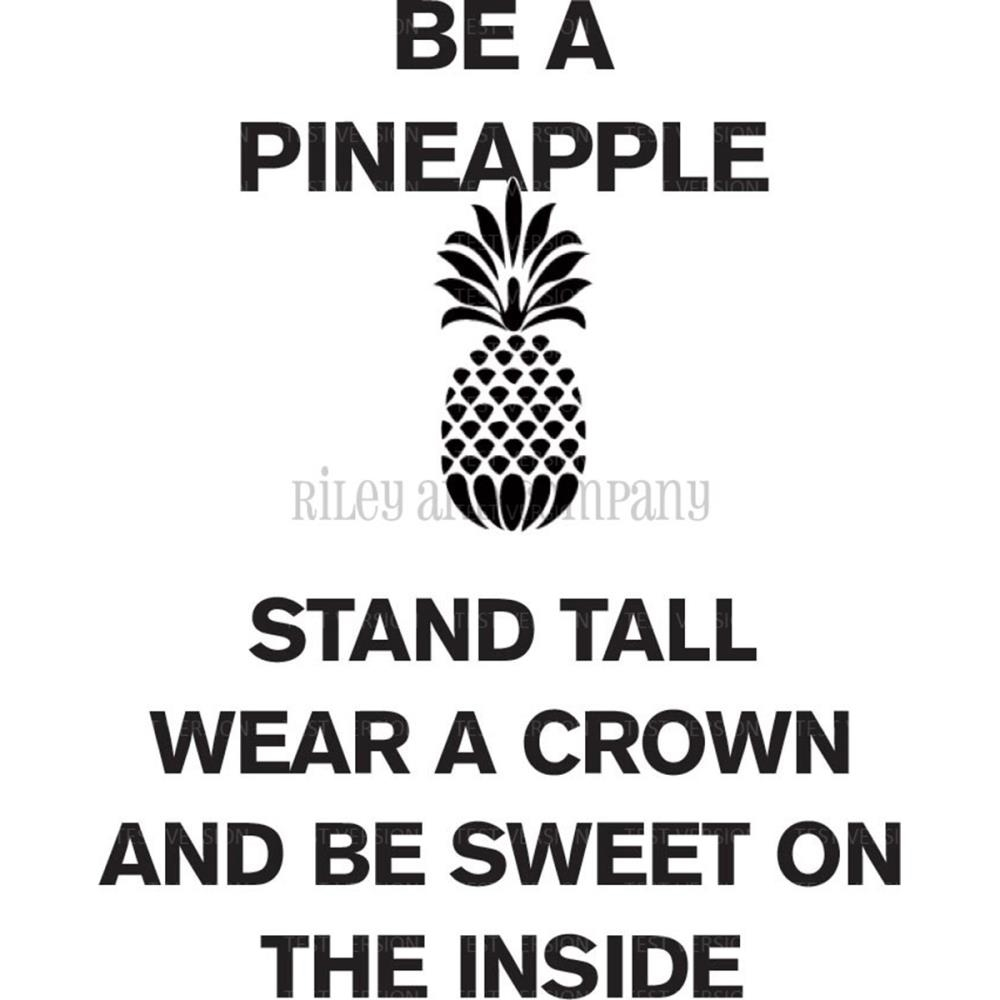 Riley and Company Funny Bones BE A PINEAPPLE Cling Rubber Stamp RWD 528 zoom image