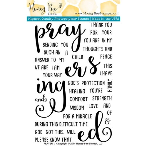 Honey Bee PRAYERS Clear Stamp Set HBST-027 Preview Image