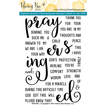 Honey Bee PRAYERS Clear Stamp Set HBST-027