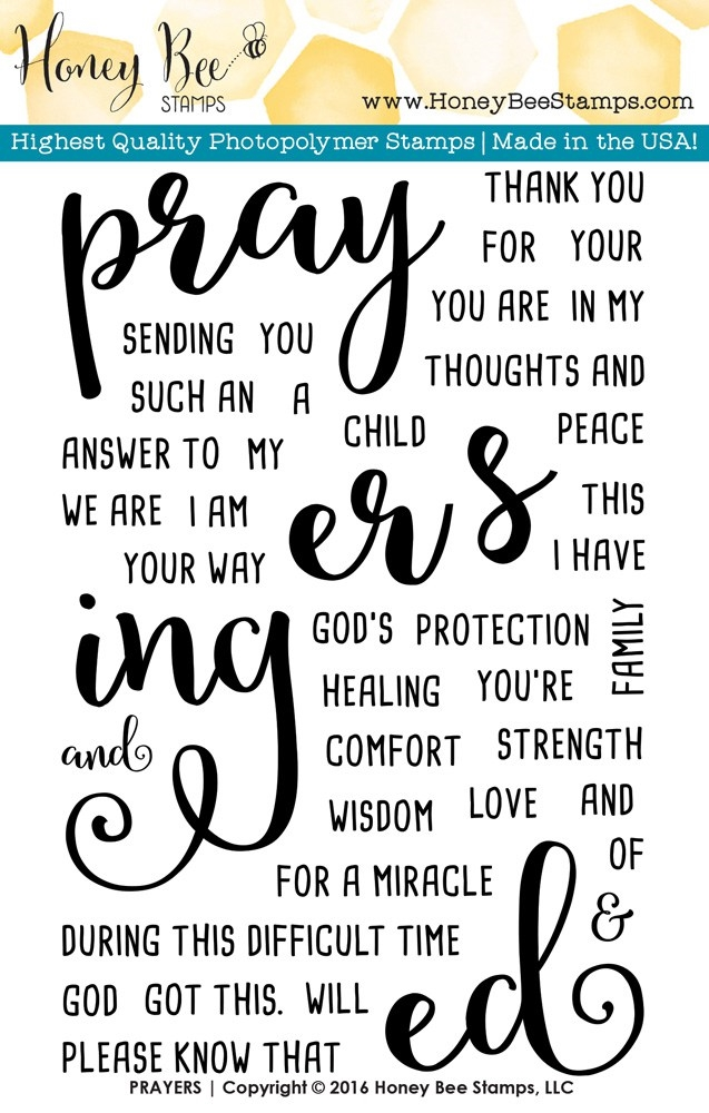 Honey Bee PRAYERS Clear Stamp Set HBST-027 zoom image