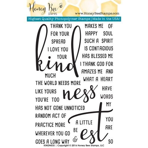 Honey Bee KINDNESS Clear Stamp Set HBST-028 Preview Image