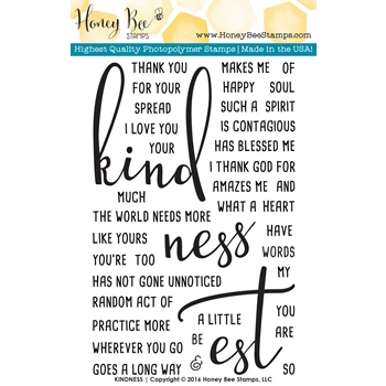 Honey Bee KINDNESS Clear Stamp Set HBST-028