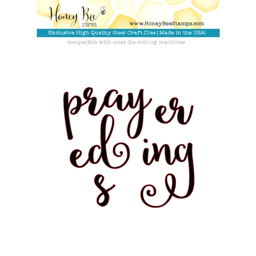 Honey Bee PRAYERS Dies HBDS-027 Preview Image