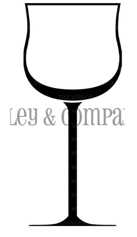 Riley and Company Funny Bones WINE GLASS Cling Rubber Stamp RCM-409 zoom image