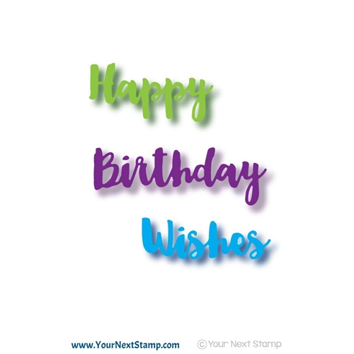 Your Next Die HAPPY BIRTHDAY WORDS YNSD514 Preview Image
