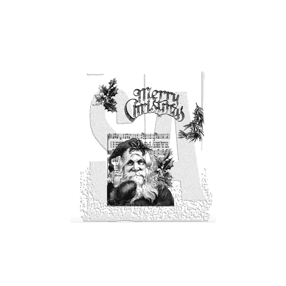 Tim Holtz Cling Rubber Stamps SANTA'S WISH Christmas CMS032 zoom image