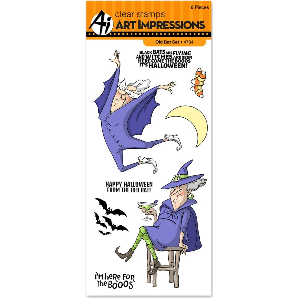Art Impressions OLD BAT Clear Stamps 4784 zoom image
