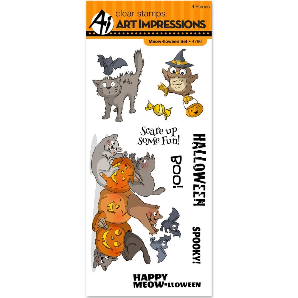 Art Impressions MEOW-LLOWEEN Clear Stamps 4786* zoom image