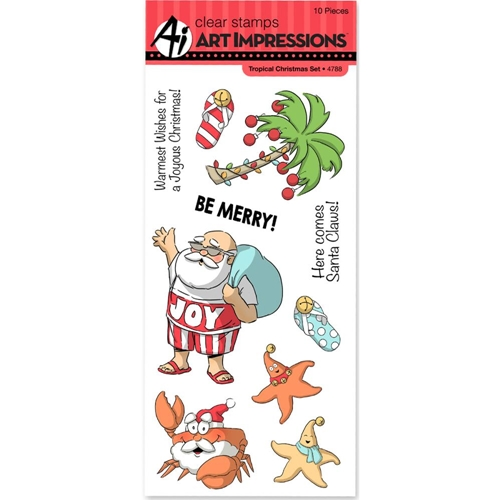 Art Impressions TROPICAL CHRISTMAS Clear Stamps 4788 Preview Image