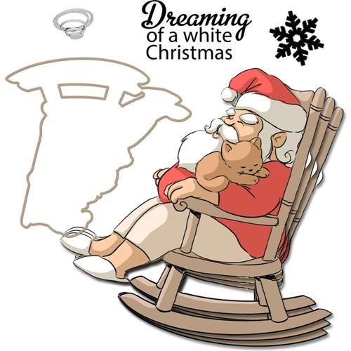 Art Impressions DREAMING Mini Shaker Clear Stamps and DIe 4792 Preview Image