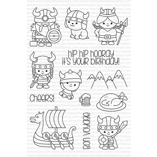 Clearly Besotted HIP HIP HOORAY Clear Stamp Set  Preview Image