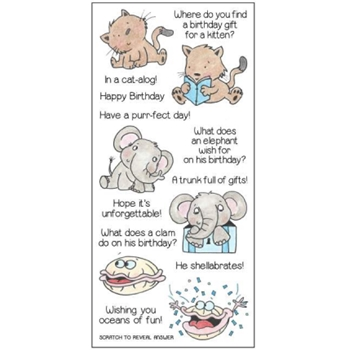 Inky Antics BIRTHDAY RIDDLES Clear Stamp Set 11354LC