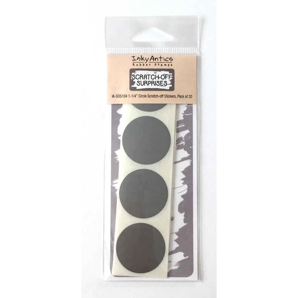 Inky Antics 1.25 INCH CIRCLE Scratch Off Stickers IASOS104 zoom image