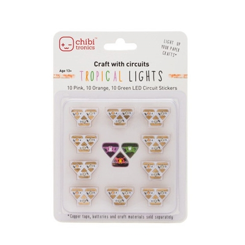 Chibitronics TROPICAL LED CIRCUIT LIGHTS Stickers 092222 Preview Image