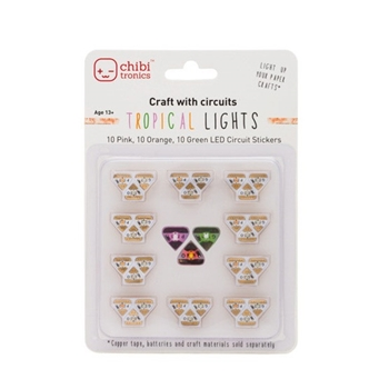 Chibitronics TROPICAL LED CIRCUIT LIGHTS Stickers 092222